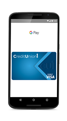 Google Pay on Phone Screen
