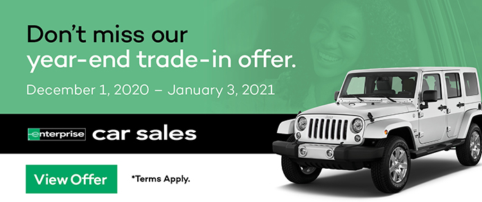 Don't miss Enterprise Car Sale's year-end trade-in offer