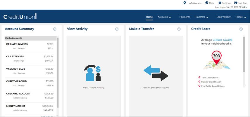 New Digital Banking | Credit Union 1