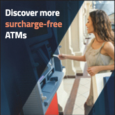 Discover more surcharge free ATMs